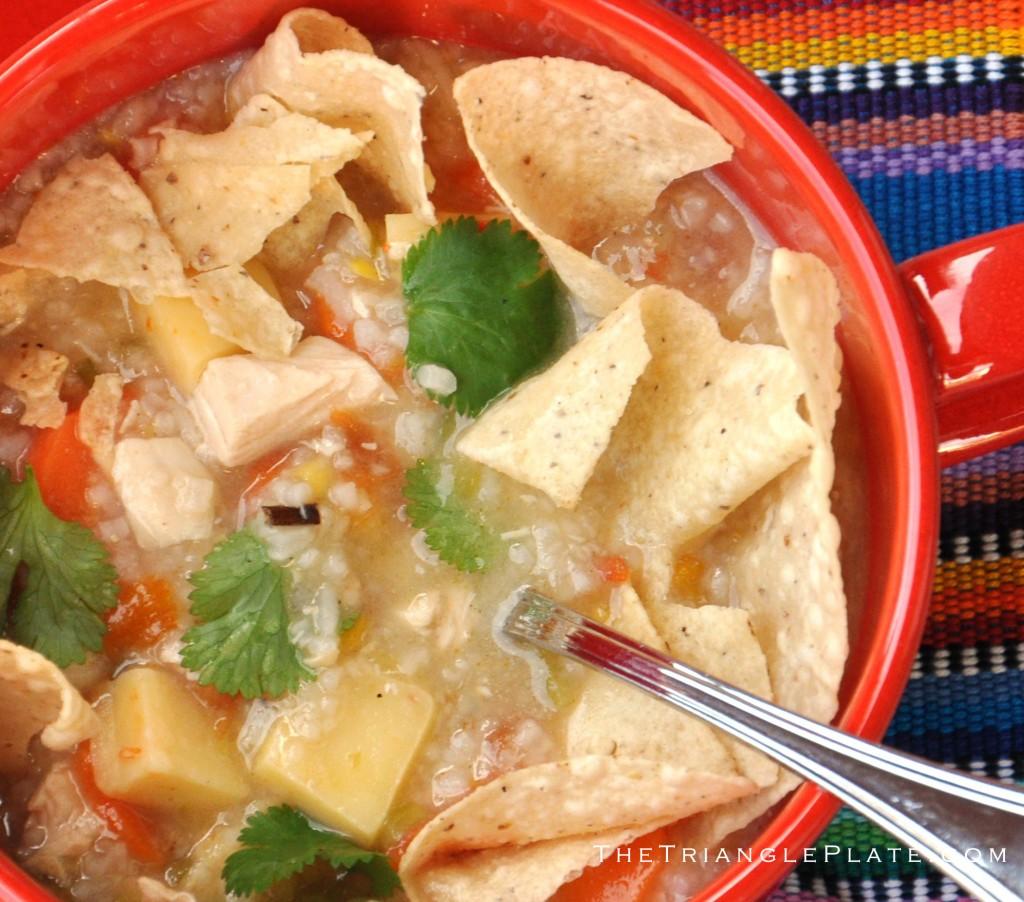 Green Chile Chicken Tortilla Soup | The Triangle Plate